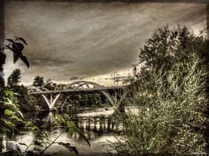 Oregon bridge and river