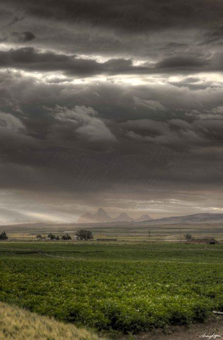 Grand Tetons from the Idaho side