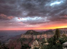 North Rim Grand Canyon Sunset