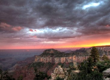 North Rim Grand Canyon Sunset