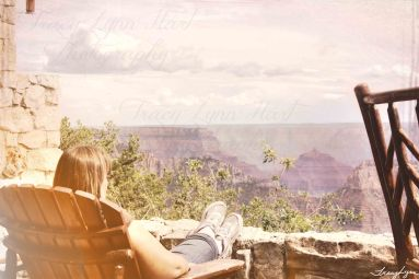 Taking in the View North Rim Grand Canyon